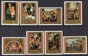 Niger 614-621 Paintings MNH VF