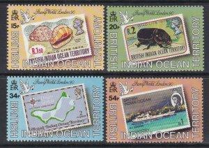 BIOT 1990 Stamp World London 90 MNH CV £28.00