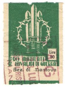 (I.B) Italy Cinderella : War Invalids Charity Stamp 50L (Mantua)