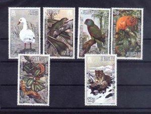024911 WILD ANIMALS JERSEY set 6 stamps MNH#24911