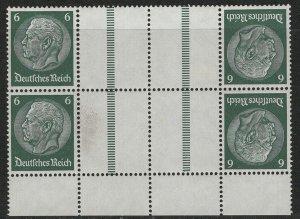 Germany Scott # 419 (4), 4 labels, mint hr, se-tenant, tete beche, Mi# 2xKZ22.2