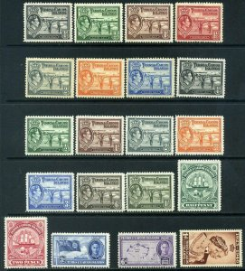 Turks & Caicos Islands KGVI 1937-1951 selection of Mounted Mint x20