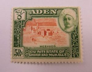 1942 Aden  SC #11 Qu'aiti State KGVI  MH stamp
