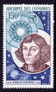 Comoro Islands 1973 Sc#C56 NICOLAUS COPERNICUS (1473-1543) Single MNH