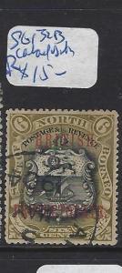 NORTH BORNEO (PP0210B)  6C ARMS, LION SG 131B  LAHAD DATU  VFU