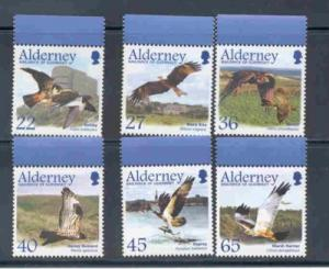 Alderney Sc 185-90 2002 Migrating Birds stamp set mint NH