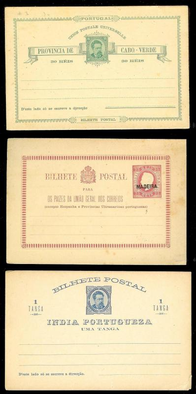 PORTUGAL COLONIES & others (39) Early Mint Unused Postal Cards Many Better!