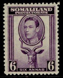SOMALILAND PROTECTORATE GVI SG98, 6a violet, M MINT. Cat £16.