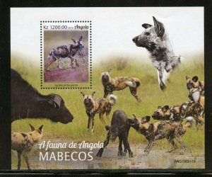ANGOLA  2020  WILD DOGS  SOUVENIR SHEET MINT NH