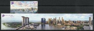 Singapore Landscapes Stamps 2020 MNH Skyline Skyscrapers Architecture 2v Set