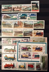 Asia: MNH Issues Railroad