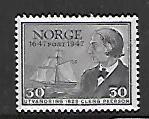 NORWAY, 283, MINT HINGED, SAILBOAT