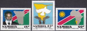 Namibia #659-61 MNH CV $2.90 Z8