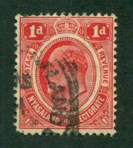 Nyasaland Protectorate 1908 #3 U SCV(2020) = $1.10