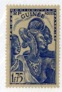 FRENCH GUINEA 153 MH BIN .80 PEOPLE