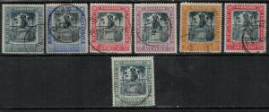 Barbados 1906 SC 102-108 Used Set SVC$ 103.00