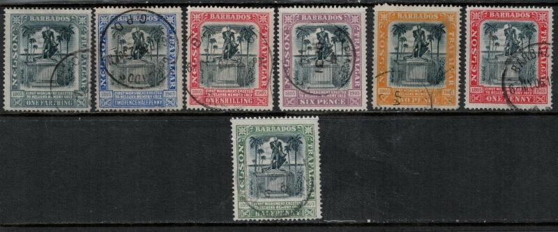 Barbados 1906 SC 102-108 Used Set SVC$ 103.00
