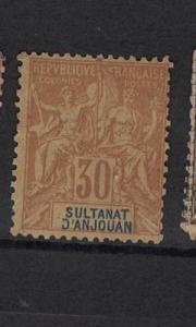 French Anjouan SC 12 MNG (5dub)