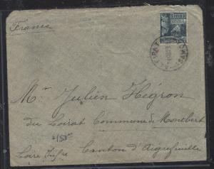 SAMOA (P2810B)  1923 HUT 2 1/2D ALEPATA TO FRANCE