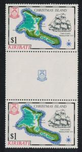 Kiribati Captain James Cook Islands 1st series 1v $1 Gutter Pair SG#148