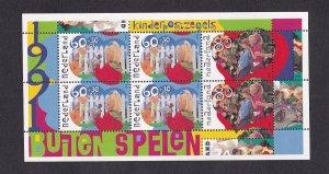 Netherlands  #B659-B661a  MNH 1991  sheet  children playing