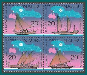Nauru 1975 SPC, Boats, MNH  #127a,SG133a