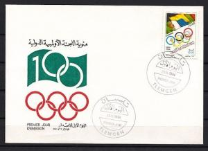 Algeria, Scott cat. 1002. Olympics issue. First day cover. ^