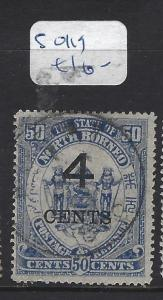 NORTH BORNEO (PP0210B)  4C/ 25C ARMS, LION SG  119     VFU
