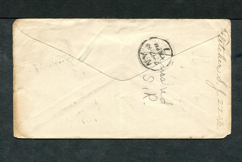 Postal History - Indianapolis IN 1890 Black Numeral Duplex Cancel PS B0459
