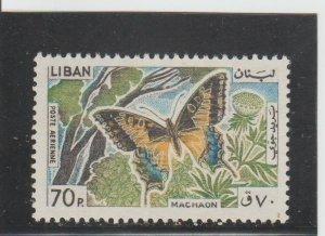 Lebanon  Scott#  C431  MNH  (1965 Machaon)