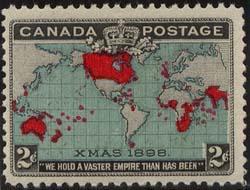 Canada USC #86b 2c Map Deep Blue O.G. Fresh & F NH Cat. $52.50 First XMAS Stamp