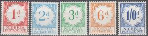 Nigeria #J6-10  MNH F-VF  (SU1662)