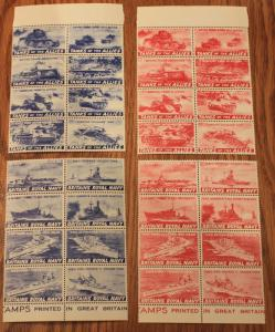 WWII 32 DIFFERENT MINT NH STAMPS TANKS OF THE ALLIES & BRITAIN'S ROYAL NAVY