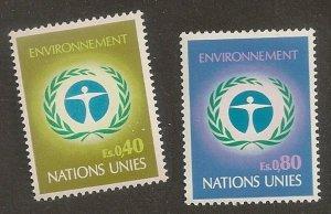 United Nations 25-26 Geneva Human Environment set MNH 1972