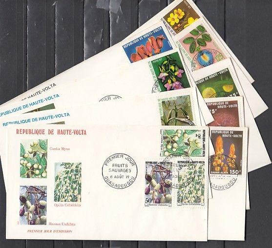 Burkina Faso, Scott cat. 423-433. Various Flowers issue on 9 First day covers.