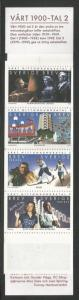 SWEDEN 2336a, MNH STAMPS, COMPLETE BOOKLET, 1 EACH #2327-2336, MILLENNIUM TYP...