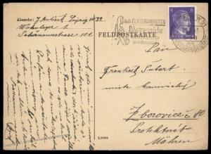 Germany 1943 Czech Gemeinschaftslager Forced Labor Work Camp Cover 90230