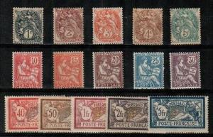 French Offices in Egypt Port Said Scott 18-32 Mint hinged (Catalog Value $99.15)