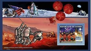 Space Stamp Colombia Team Hommage Astronauts Rocket S/S MNH #4532 / Bl.1110