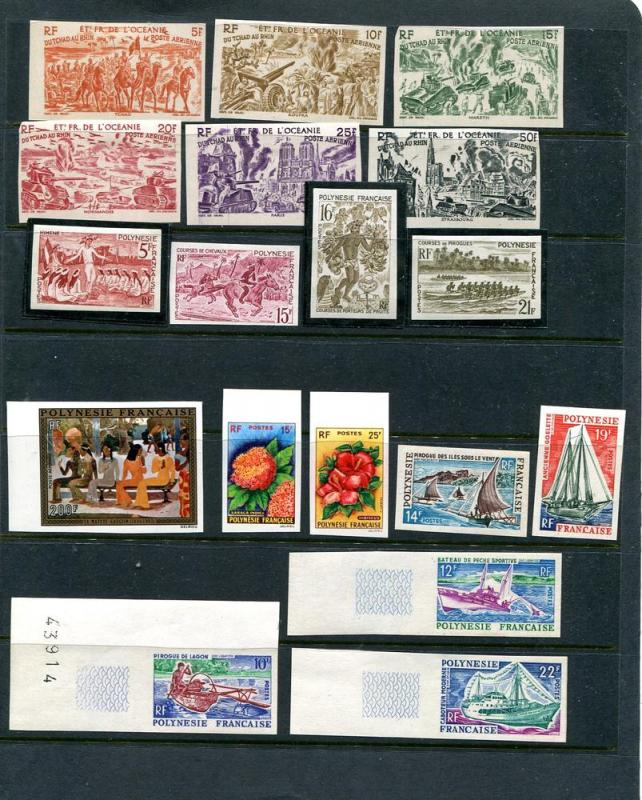 French Polynesia Imperforated lot Mint NH/LH VF