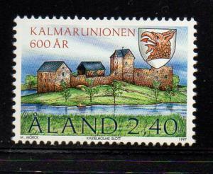 Aland Sc  136 1997 Kalmnar Union stamp mint NH