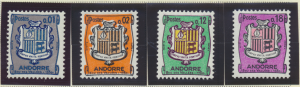 Andorra (French) Stamps Scott #143//175, Mint Hinged, 12 From 1964-7 - Free U...