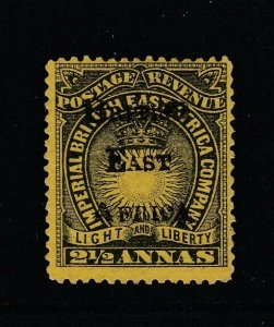 British East Africa, Sc 41 (SG 36), MLH