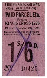 (I.B) London & North Eastern Railway (GN section) : Parcel 1/6d (King's Cross)