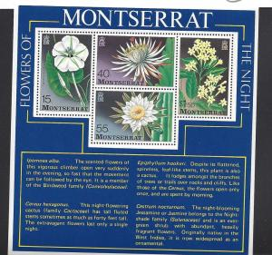 Montserrat, 369a, Flowers of the Night S/S(4),**MNH**