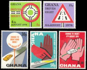Ghana 530-534, MNH, Change to Right-Hand Driving