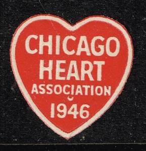 US STAMP CHICAGO HEART Charity Seal MNH/OG STAMP