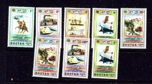 Bhutan 164-68 and C27-29 MNH 1974 UPU 100th anniversary