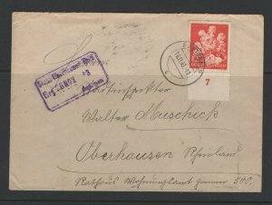Germany - Reich #B246 (1943 Winter Relief) single use on Nov 19/1943 cover CV €6