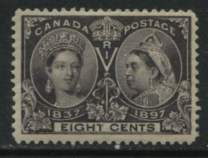 Canada QV Jubilee 8 cents Fine mint o.g. hinge remnant